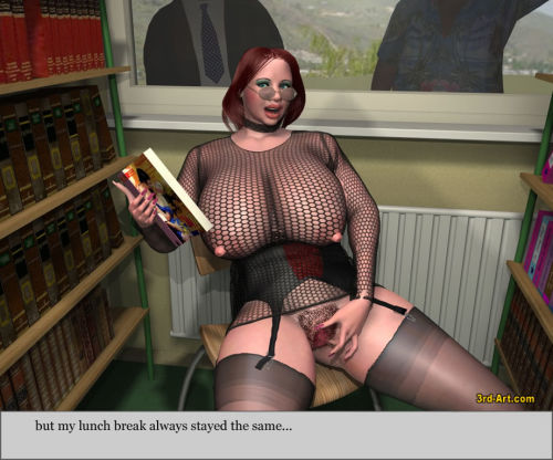3Darlings Model Nadia at the Library